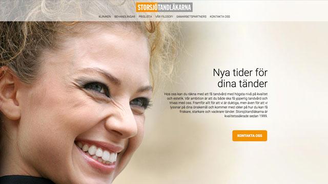 Webbdesign: Storsjötandläkarna