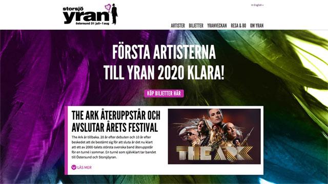 Webbdesign: Storsjöyran