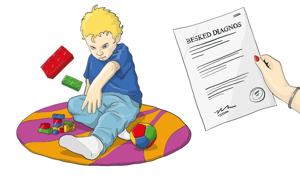 Illustration av barn ur bok om ADHD