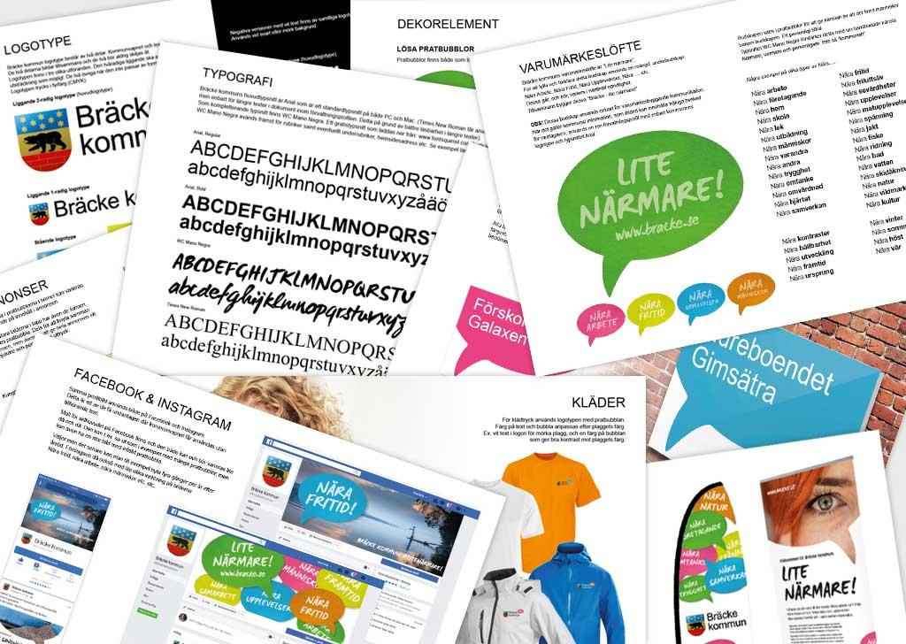 Exempel på grafiskt material för Bräcke kommun