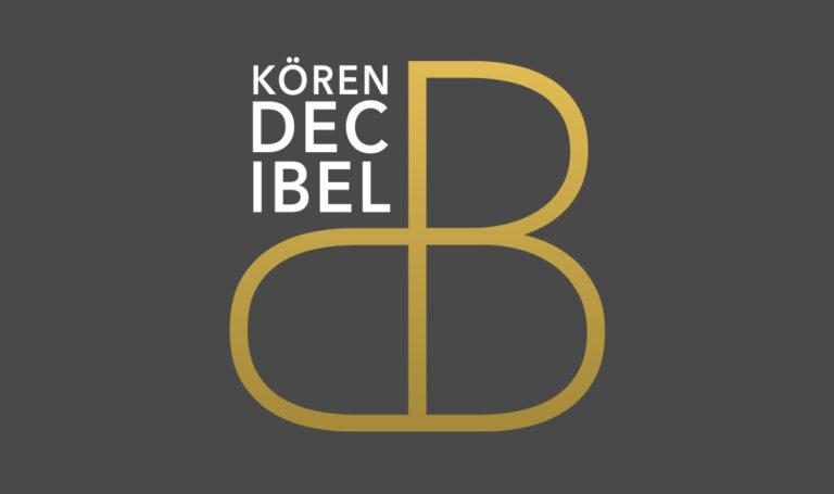 Logotyp för Kören Decibel