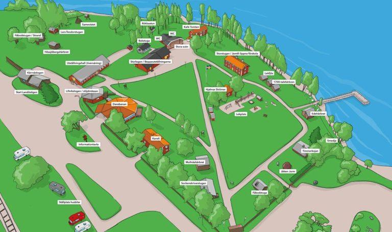 Illustration av Strömsunds hembygdsgård