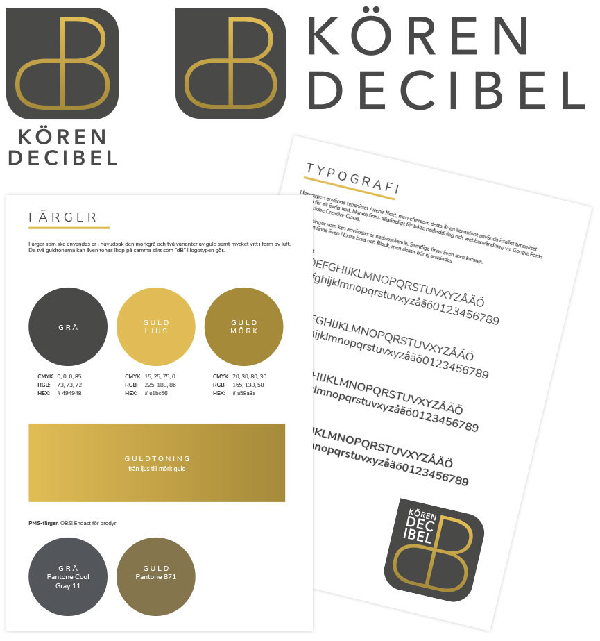 Grafisk profil för Kören Decibel