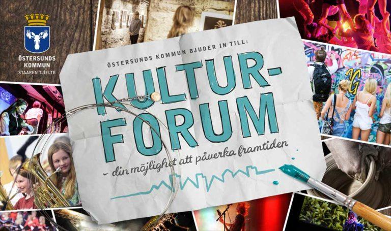Kampanjmaterial för Östersunds kommum, Kulturforum