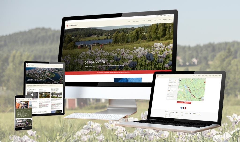 Webbdesign för St Olavsleden