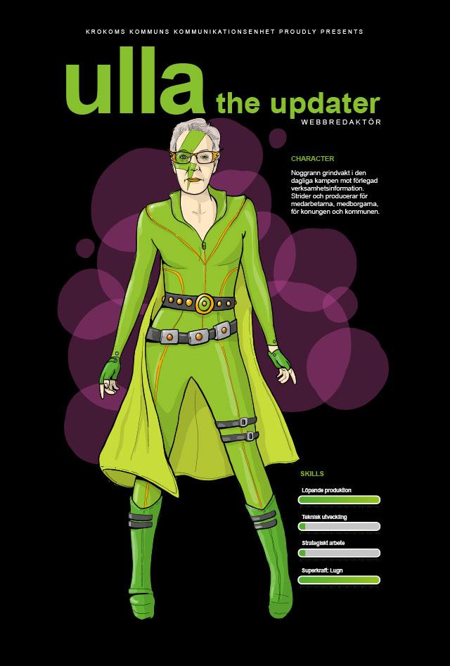 Illustration Superhjältar Krokoms kommun, Ulla