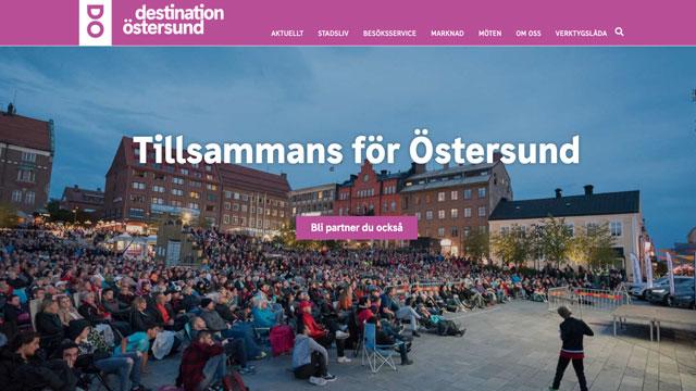 Webbdesign för Destination Östersund